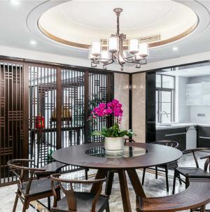 新中式室内餐厅吊顶效果图