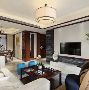 103平古色中式客厅装修设计