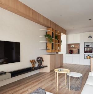 自然简约两居室客厅效果图