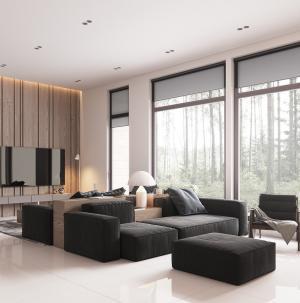 雅致简约现代客厅装修效果图