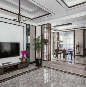 新中式室內裝修客廳效果圖