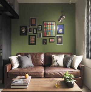 92平清新现代风客厅照片墙效果图
