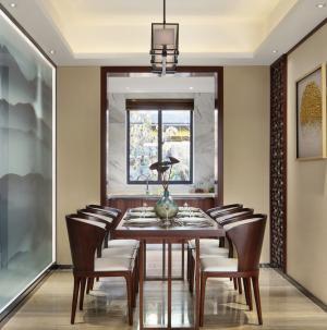 103平古色中式餐厅设计