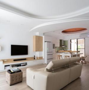 91平清新简约客厅设计
