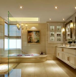 美式四居室卫生间效果图欣赏
