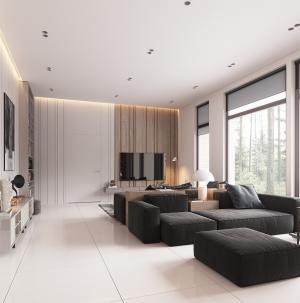 雅致简约现代沙发效果图