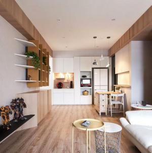 自然简约两居室客厅餐厅设计
