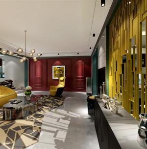 混搭風兩室豪華客廳裝飾效果圖