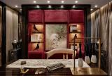 中式书房写字台窗帘设计图片