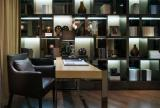书房书柜书桌摆放设计效果图