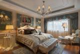 臥室窗簾燈飾擺放設計效果圖