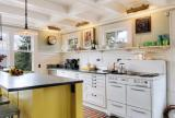 北欧风格厨房设置吧台图片