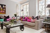 斯堪的纳维亚风格明亮舒适住宅客厅