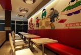 卡座区 旺月湾快餐店室内装效果图