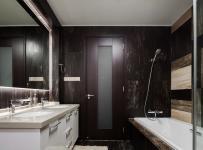 紫棕色高雅卫生间设计