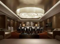 現代會所餐廳包廂吊頂設計效果圖
