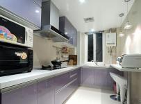 米色混搭厨房背景墙装修设计图