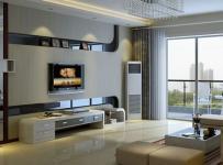 110平米实用现代风格客厅电视背景墙装修设计