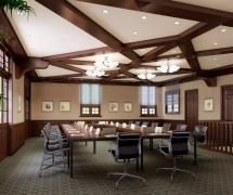 现代美式装修办公会议桌
