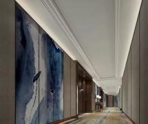 青岛威斯汀酒店客房走廊设计效果图