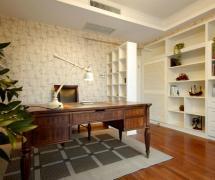 舒适田园风格三居室书房吊顶设计