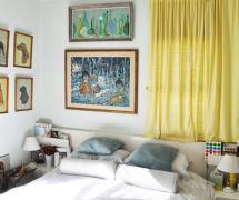 轻装修重装饰的美式住宅卧室背景墙效果图