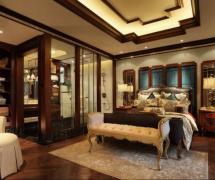 93平米新古典风格复式卧室吊顶设计