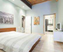 45平米舒适现代风格卧室背景墙装修图片