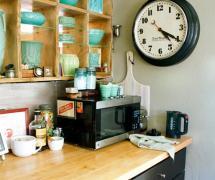 124平米复古风格三居室厨房装修效果图