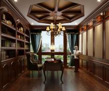 大气美式风格四居室书房吊顶设计