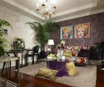 120平米现代时尚风格客厅背景墙装修效果图