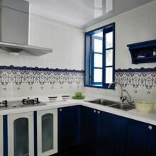 93平米蓝色地中海风旧屋改造效果图展示