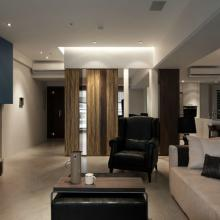 105平米现代时尚风格三居室设计图