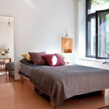 北欧风格35平米小公寓装修效果图