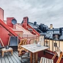 北欧风80平阁楼公寓