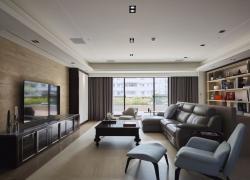 沉稳质朴 现代三居室装修设计