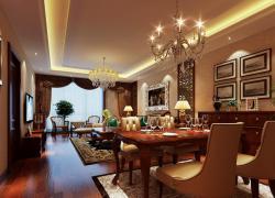 美式格调优雅二居室设计效果图