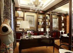 歐式豪華古典裝修四居室效果圖案例