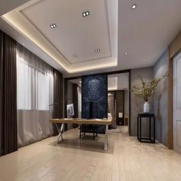 103平米中式三居室裝修效果圖展示
