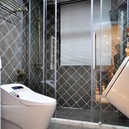 118平米現代中式風格兩居室裝修效果圖