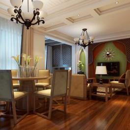 東南亞簡約三居室裝修效果圖大全