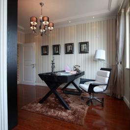 117平米混搭時尚風格三居室裝修效果圖