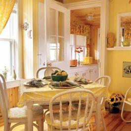 黃色調混搭二居室家居設計案例