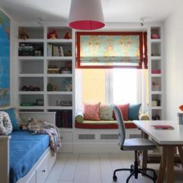 多彩色調混搭二居室案例