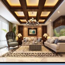 美式三居室內設計案例欣賞
