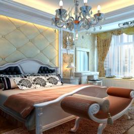 时尚欧式大户型三居室客厅装修效果图