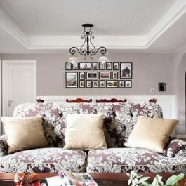 時尚摩登混搭二居裝修效果圖案例
