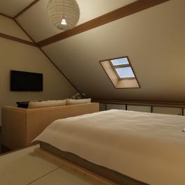 72平米舒适混搭风格小户型室内装修设计