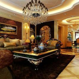 奢華歐式三居裝修美宅效果圖