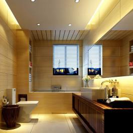 80平米簡約暖色調家居裝修效果圖展示